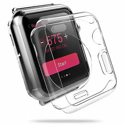 38 mm Clear Apple Watch TPU Cover Case for Apple iWatch smart watch