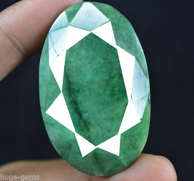 194.05 Ct Natural Oval Shape EGL Certified Green Emerald Gemstone