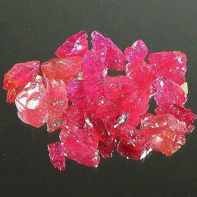 Gem Lot 35.24 Ct - Beautiful Heated Natural Rough Red Pink Ruby Mozambique