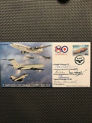 RAF 80(10) 80th Anniversary Of The RAF - Signed P.A Porteous, E.C.T Wilson