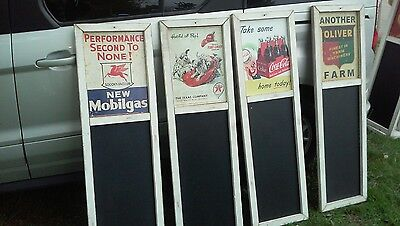 MOBIL NEW MOBIL Metal Advertising Sign Chalkboard / Awesome Looking Collectible!