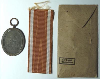 c. 1944 Germany World War II Westwall Medal with ribbon and envelope