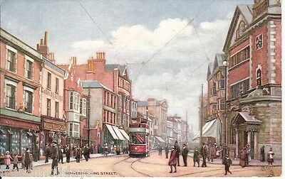 Collectable vintage Coloured TUCK`S postcard of King Street, Gravesend, Kent