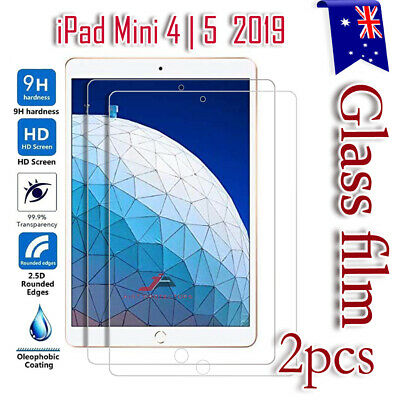 2X Apple iPad Mini 4 5 2019 Scratch Resist Tempered Glass Screen Protector Film