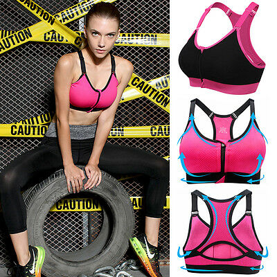 NEW Ladies Multi Sports Bra Womens Yoga Gym Crop Tops Padded Absorber Bras Vest