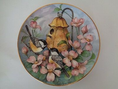 Royal Doulton Chickadees' Castle Carolyn Shores Wright Limited Edition Plate