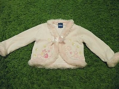 Girls Thick Pink Piglet Cardigan.  Aged 12-18 Months
