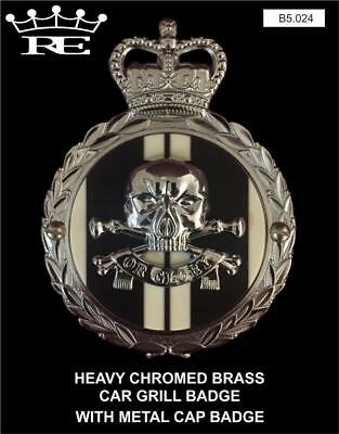 Royale Heavy Chromed Brass Car Badge 17 21 LANCERS BLACK DEATH OR GLORY - B5.024