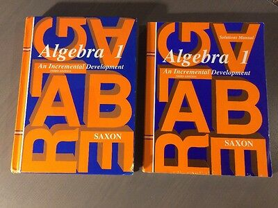 Saxon Algebra 1 Lot Of 2 Books And 2 Home Study Packets