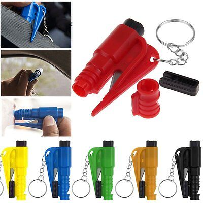 Safety Emergency Hammer Car Window Glass Breaker Seat Belt Cutter Escape Whistle