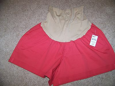 NWT Oh Baby by Motherhood (Kohls) Full Stretch Belly Rolled-up Shorts Sz 2X