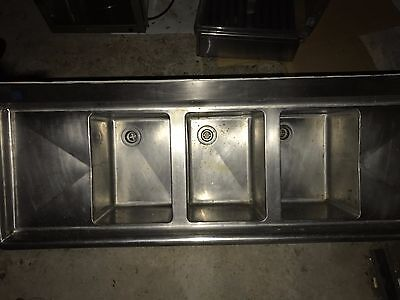 Advance Tabco FC-3-1620-18 Three Compartment Stainless Steel Commercial Sink