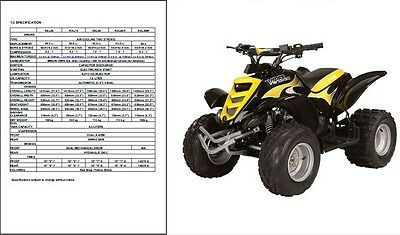 E-TON Viper 50 70 90 ATV ( RXL50 RXL90 RXL70 RXL50M ) Service Manual on a CD