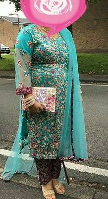 Beautiful ladie party shalwar kameez size L, also available for baby girls 1year