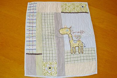 Mamas & Papas Boys Made With Love Quilt / Coverlet Crib Giraffe