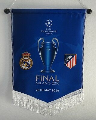 Wimpel Champions League Finale Mailand 2016 [Real - Atletico] Pennant. Ronaldo