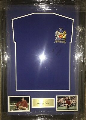 Signed Framed Manchester United 1968 European Cup Final Shirt By George Best