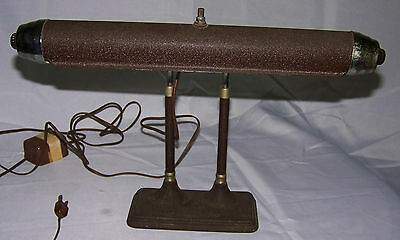 Vintage Art Deco Style Metal Desk Lamp w/ Fluorescent Light (Radionic)
