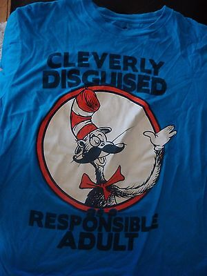Adorable Cat In The Hat T-Shirt, Size Large, Nice Shape! Dr. Seuss