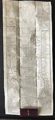 """NEW YORK CITY 1885 POCKET MAP by ADOLPH WITTEMANN """"RARE"""""""