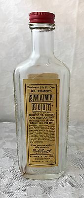 Apothecary Medicine Bottle Antique Good Label SWAMP ROOT VINTAGE