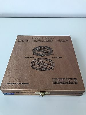 Padron Sampler Wooden Cigar Box. Best Quality 1964 Anniversary Series Natural