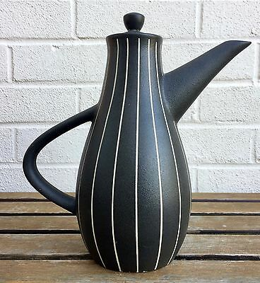 -TIBOR REICH, TIGO WARE- LARGE 1950s DENBY ART STUDIO POTTERY COFFEE TEA POT JUG