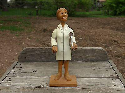 Vintage Romer Hand Carved Wooden Figure Dentist Italy