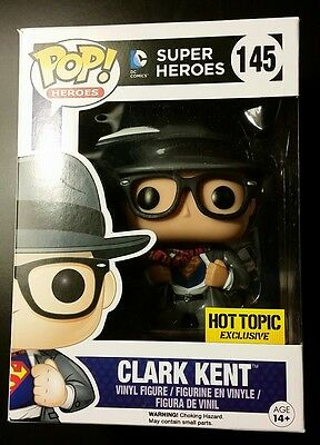 Funko Pop Super Heroes Series Clark Kent Hot Topic Exclusive