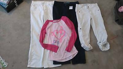 GAP- CAT & JACK- OLD NAVY - Denims Top Girls Clothing lot 4 sz 14 - 16 USED