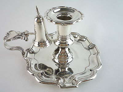 silverplate candlestick and snuffer ENGLAND c.1900 better than by Sherlock