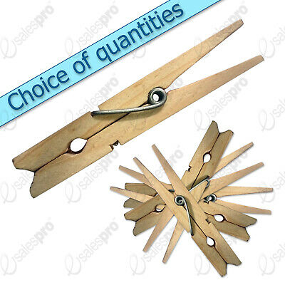 Clothes pegs pins clips Wooden line airer dryer washer - discounts multi qty