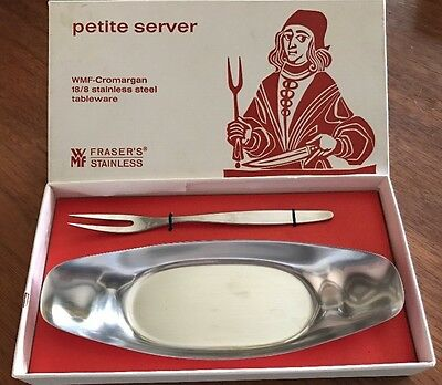 NEW in Box Stainless Steel Petite Server Mid-century Danish Design Germany