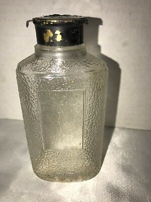 Antique Early 1920 Cheramy New York Glass Vanity Talc Bottle Vintage perfume Jar