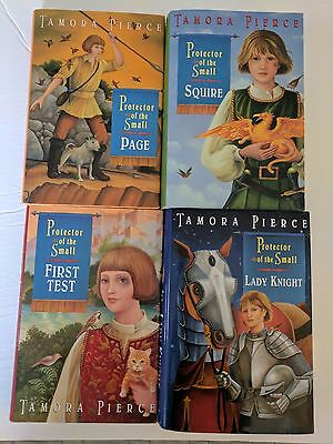 Protector of Small Tamora Pierce Lot 4 First Test Page Squire Knight Lady HC DJ
