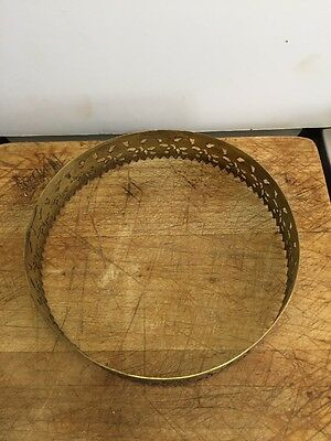 Vintage Ornate Brass Crown For Hanging Library Lamp 8
