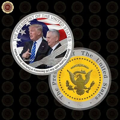 WR US President Donald Trump / Defence Secretary Silver Presidential Coins Value