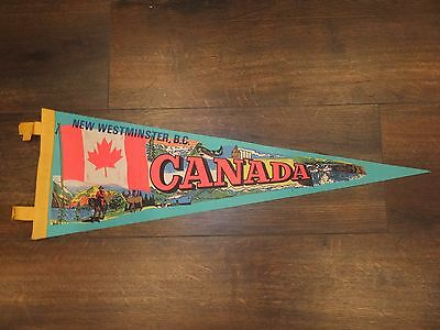 """Vintage NEW WESTMINSTER, B.C. CANADA Pennant - LARGE, Approx. 23"""" x 8"""""""