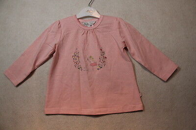 Baby Girls Size 00,0,1,18m,2 Bebe Winter Pink Stripe Top With Graphics NWT