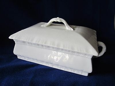 Rare Antique John Maddock & Sons Royal England White Ironstone Tureen