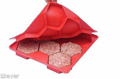 Shape+Store 8 Patty Burger Meat Master Gadget Freezer Shape Store BBQ Container