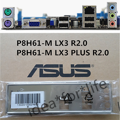 ASUS I//O IO SHIELD BLENDE BRACKET  P8H61-M LX3 PLUS