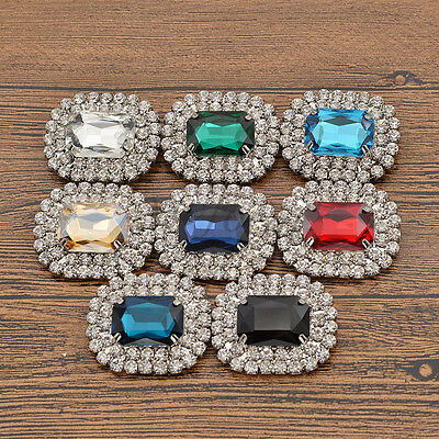 Silver Luxury Women Fashion Crystal Rhinestone Shoes Clip Buckle Jewelry New 1PC