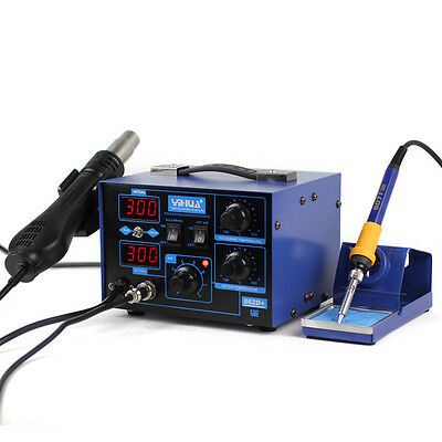 862D 2 in 1 Soldering ReWork demolition Station Solder Iron Hot Air Gun 720W