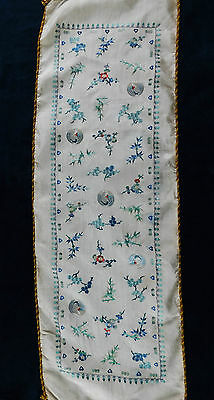 Antique Chinese Silk Finely Embroidered Panel