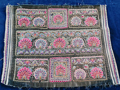 Antique Chinese  Finely Embroidered Silk Panel,