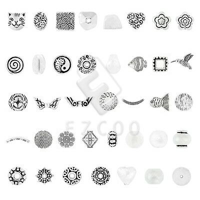 6-400pcs Tibetan Silver Loose Charm Spacer Beads Jewelry Makings DIY 38 Style CA