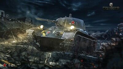 World Of Tanks Starter Account Includes T-127 & M22 Locust And 1800 Gold
