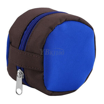 Portable Fly Fishing Storage Zip Reel Sponge Pouch Cover Protector Bag Case OB