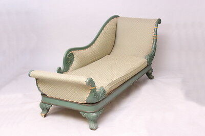 Antique 19th century painted chaise longue 1820-1829